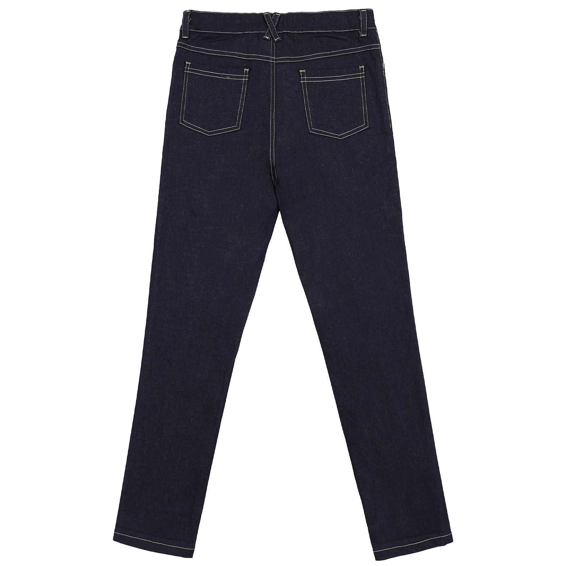 Pantalon jean bleu foncé coupe slim fit en coton et lycra pour filles de 2 à 12 ans