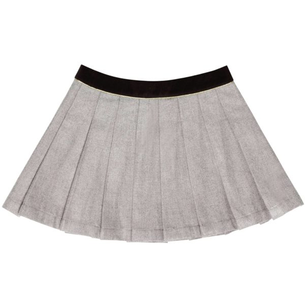 grey wool pleated school uniform girl skirt for girls from 2 to 12 years old