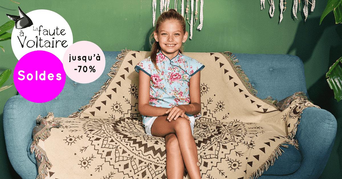 Display paysage blouses d'été pour filles de 2 à 16 ans