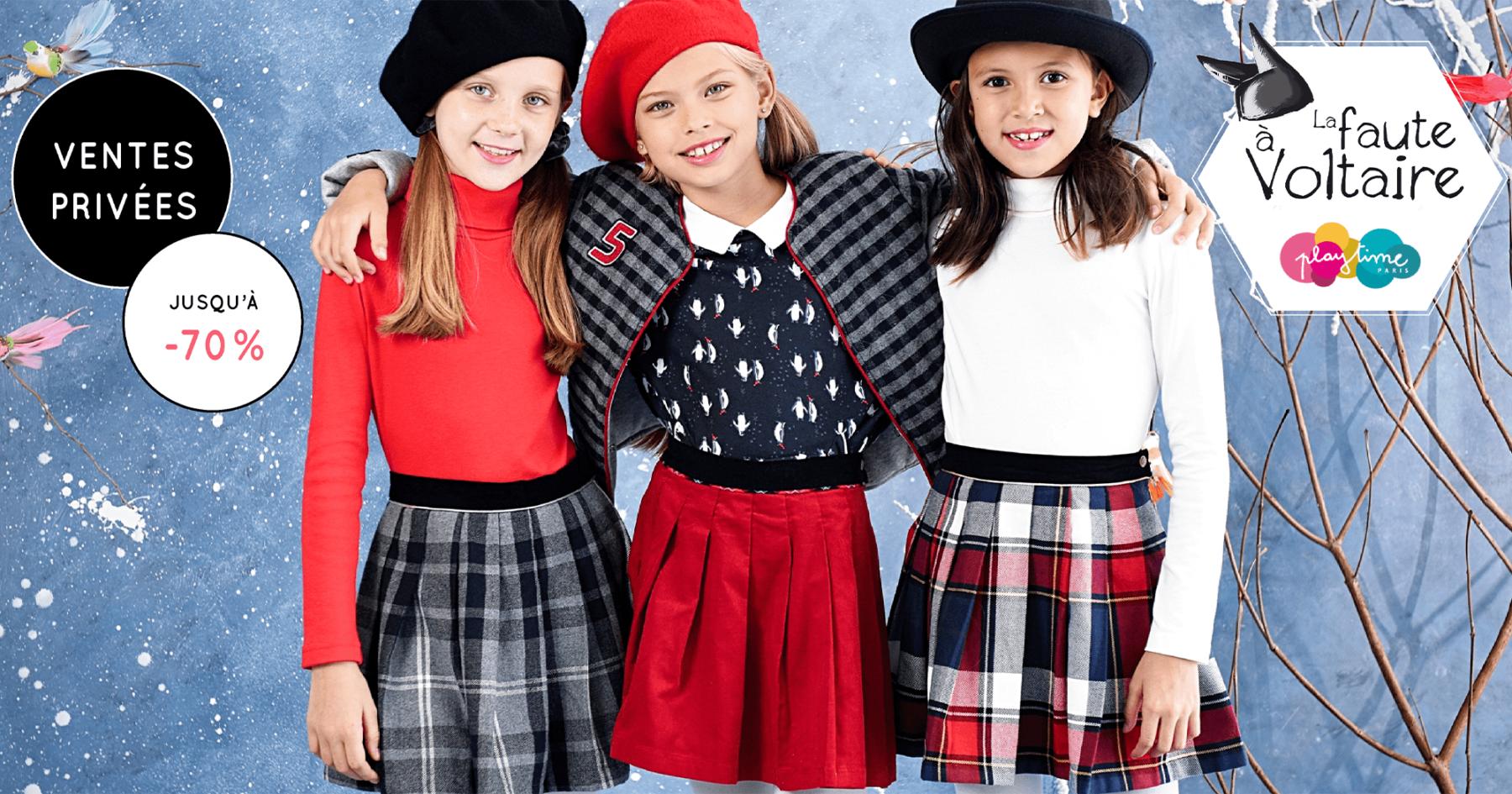Nouvelle collection automne hiver pour filles et garçons de la marque créateur mode française pour enfants LA FAUTE A VOLTAIRE